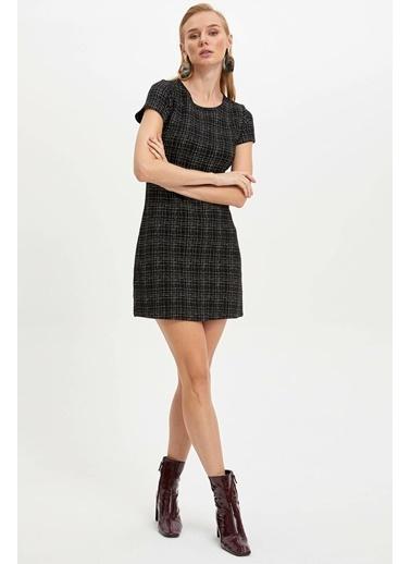 DeFacto Örme Elbise Siyah